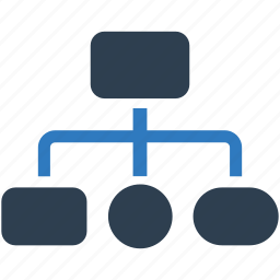 business, company, hierarchy, management, structure icon