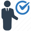 approved, business task, check mark, done icon