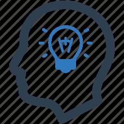 brain, bulb, creative, creativity, idea, productivity, thinking icon