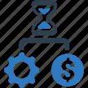 coin, decision, money, strategic, time icon