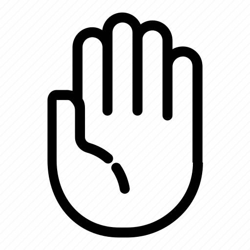 finger, gesture, gesturing, hand, palm, stop, thumb icon