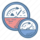 business, efficiency, finance, indicator icon
