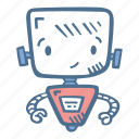 business, finance, modern, robot, robotics, technologies icon