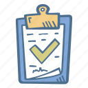 business, check, document, finance, security icon