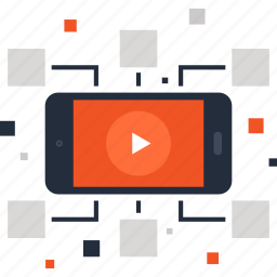 communication, connection, marketing, mobile, phone, video, viral icon