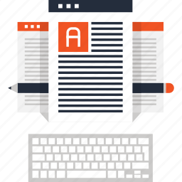 article, blog, communication, keyboard, management, web, write icon