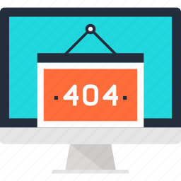 404, browser, computer, error, internet, page, web icon