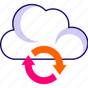 cloud analytics, cloud initializing, cloud loading, cloud refresh, cloud sync, sync icon