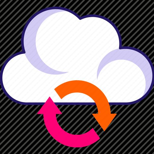 cloud analytics, cloud initializing, cloud loading, cloud refresh, cloud sync, sync icon