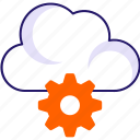 cloud, data configuration, gear, settings icon icon