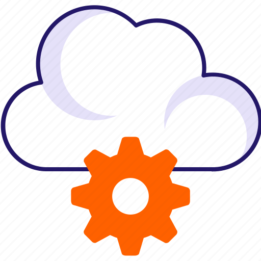 cloud, data configuration, gear, settings icon icon