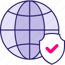 global, internet, network, protection, security, shield, web icon icon