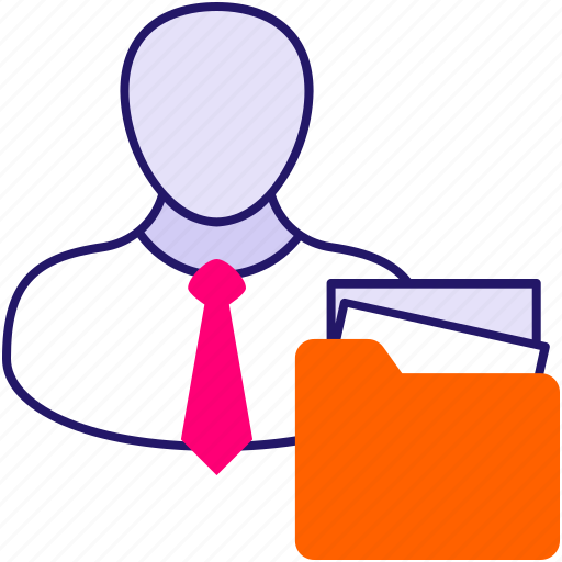 data access manager, data management, data manager, data organizer, man with folder icon
