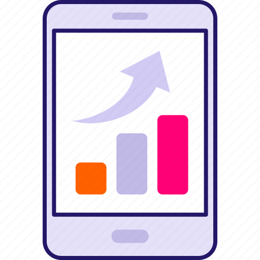 business, chart, graph, investment, line chart, report, tablet icon icon
