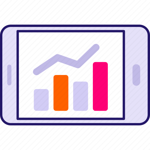 business, chart, graph, investment, report, tablet icon icon