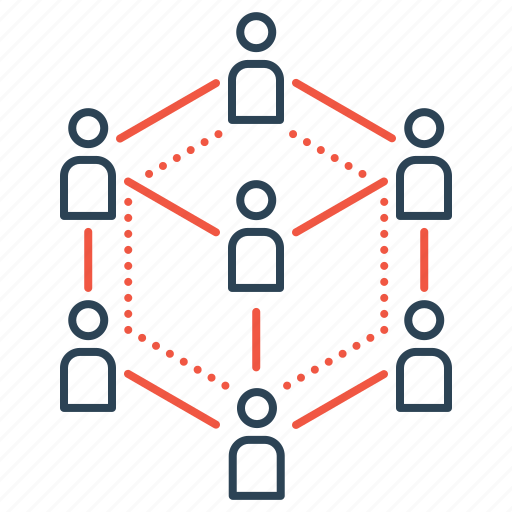 business, community, connection, group, networking, startup icon