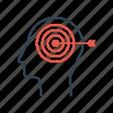 brain, dream, future, goal, mission, storming, target