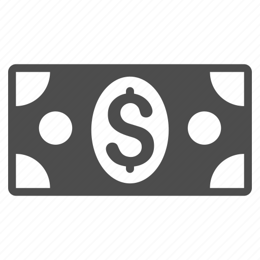 bank, cash, currency, dollar banknote, finance, financial, money icon
