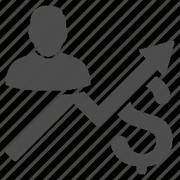 business, client, dollar, finance, money, report, sales icon