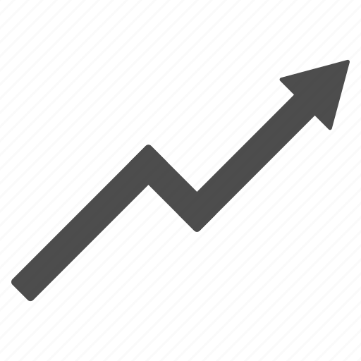 arrow, chart, diagram, graph, growth, statistics, trend icon