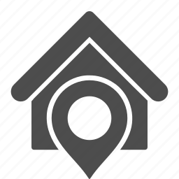 house, location, map pointer, marker, place, position, realty icon