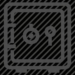 bank, banking, box, deposit, protection, safe, safety icon