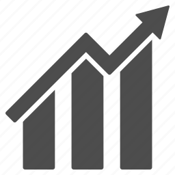 financial report, graph, increase, sales chart, statistics, stats, stock market icon