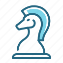 chess knight, game, logic, strategy icon