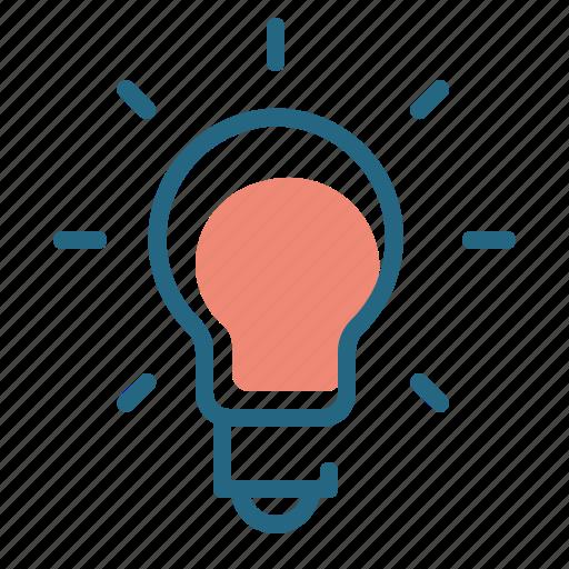 creativity, idea, lamp, light bulb icon