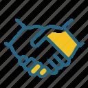 contract, handshake, partnership, shaking hands icon