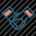 agreement, cooperation, handshake, shaking hands icon