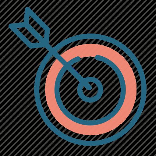 aim, arrow, darts, target icon