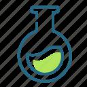 chemistry, experiment, flask, laboratory