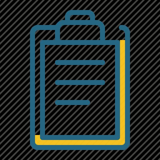 clipboard, document, list, planning icon