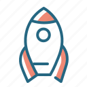 launch, rocket, space, speed icon