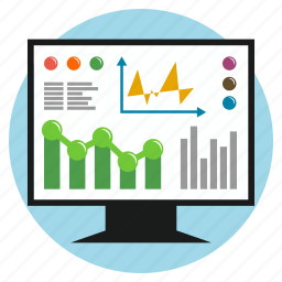 business, chart, cooperation, development, direction, earnings, screen icon