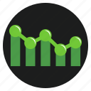 business, chart, cooperation, development, direction, earnings, tablet icon