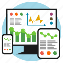 business, chart, development, earnings, responsive, screen, tablet icon