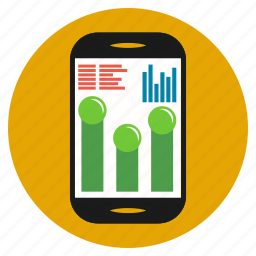 business, chart, cooperation, earnings, mobile, progress, tablet icon