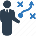 business strategy, businessman, plan, planning, project, strategy icon