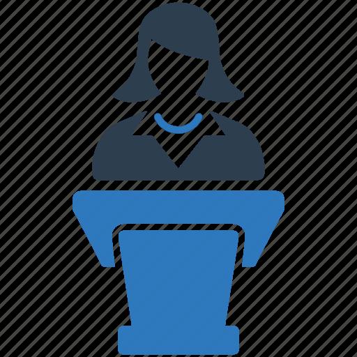 business, businessman, conference, presentation icon