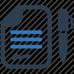 contract, cv, file, resume icon