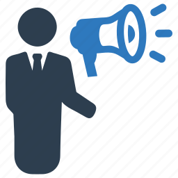 advertising, business, marketing, megaphone icon