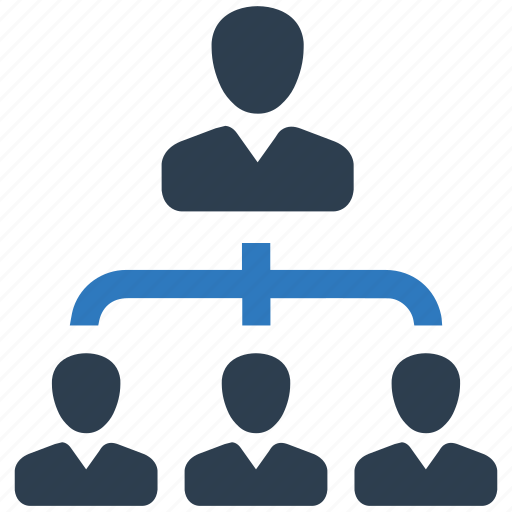 business, hierarchy, leader, management, office, team icon