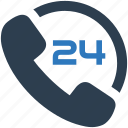 24/7, customer support, phone, support, telephone icon