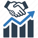 business, financial analysis, financial report, growth, partnership, relationship icon