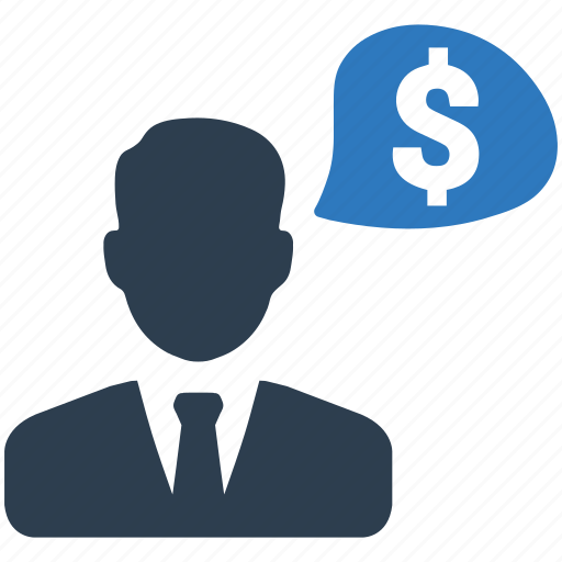 business man, dollar, earnings, finance, income, money, salary icon