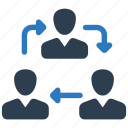 business, collaboration, communication, conversation, coworking, team, teamwork icon