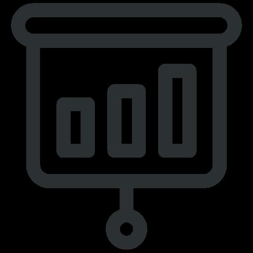 board, business, chart, line, office, presentation icon icon