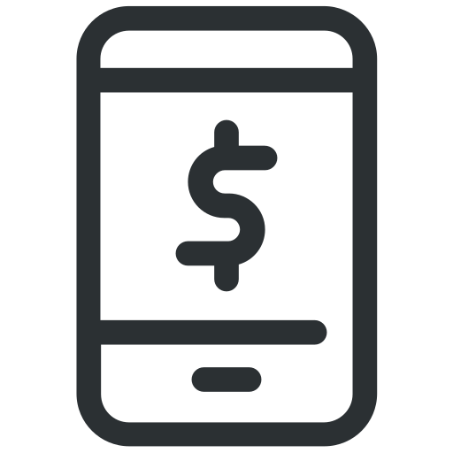 banking, dollar, mcommerce, mobile, mobile banking icon icon